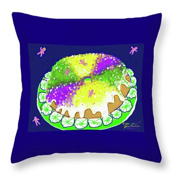 King Cake Throw Pillow