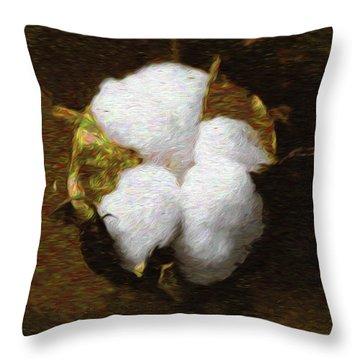 King Cotton Throw Pillow