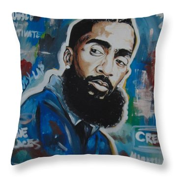 King Nipsey Throw Pillow