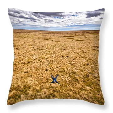 Throw Pillow featuring the photograph King Of The Hill by Carl Young