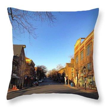 King Street Sunrise Throw Pillow