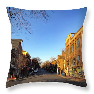 King Street Sunrise Throw Pillow