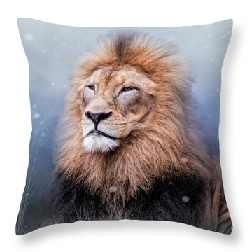 King Winter Throw Pillow