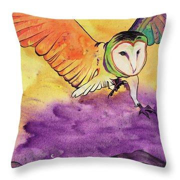 Throw Pillow featuring the painting Kingdom Ambassador by Nathan Rhoads
