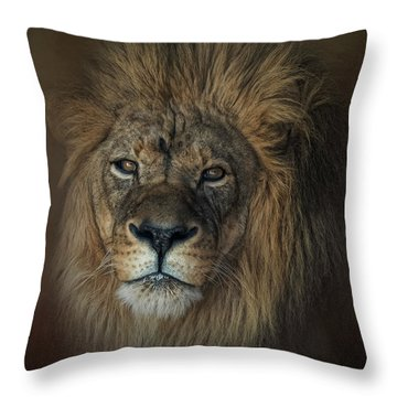 King's Gaze Throw Pillow