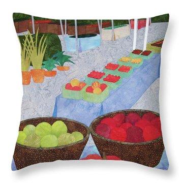 Kings Yard Farmers Market Throw Pillow
