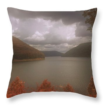 Kinzua Lake Throw Pillow