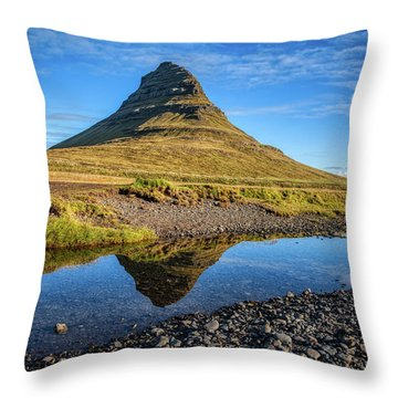 Kirkjufell Mountain  Throw Pillow