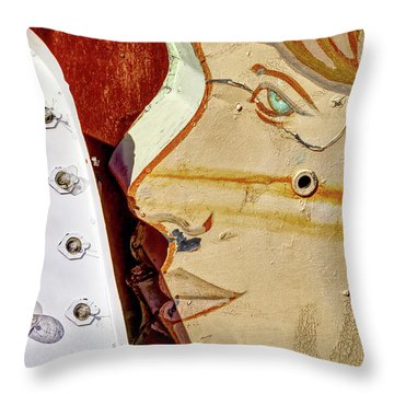Throw Pillow featuring the photograph Kiss by Skip Hunt
