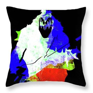 Kiss Watercolor II Throw Pillow