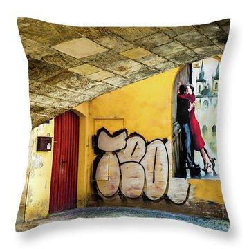 Kissing Under The Bridge Throw Pillow