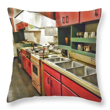 Kitchen Car Throw Pillow
