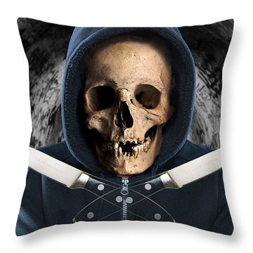 Throw Pillow featuring the digital art Knife Crime Part 2 - The Next Victim by ISAW Company