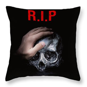 Throw Pillow featuring the digital art Knife Crime Part 3 - Rest In Peace by ISAW Company