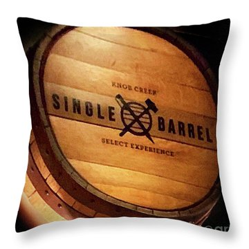Knob Creek Barrel Throw Pillow