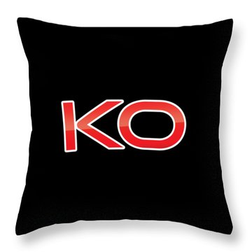Throw Pillow featuring the digital art Ko by TintoDesigns