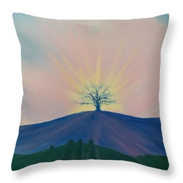 Throw Pillow featuring the painting Komorebi by Kevin Daly