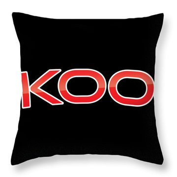 Throw Pillow featuring the digital art Koo by TintoDesigns