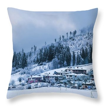 Koprivshtica Winter Panorama Throw Pillow