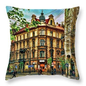 Krakow Poland Throw Pillow