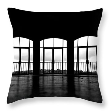 Throw Pillow featuring the photograph Kresge Stage by SimplyCMB