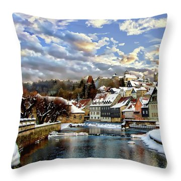 Kronach Winter Scene Throw Pillow