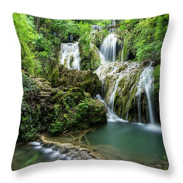 Krushunski Waterfalls Throw Pillow