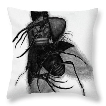 Kuchisake-onna The Slit Mouthed Woman Ghost - Artwork Throw Pillow