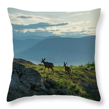 Kuipers Peak Deer Throw Pillow