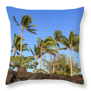 Golden Palms Throw Pillow