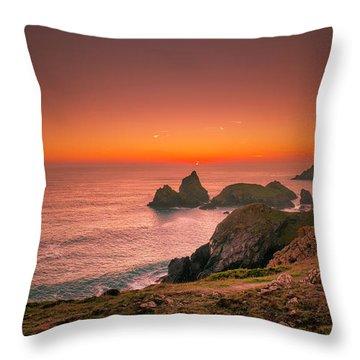 Kynance Cove Throw Pillow