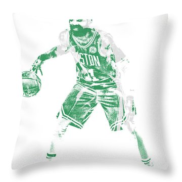 Kyrie Irving Boston Celtics Pixel Art 72 Throw Pillow