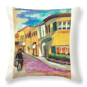 La Bichicletta Throw Pillow