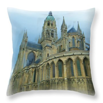 La Cathedrale De Bayeux Throw Pillow