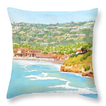 La Jolla Shores From Coast Walk Throw Pillow