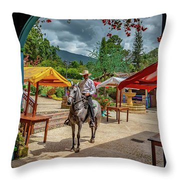 Throw Pillow featuring the photograph La Mayoria by Francisco Gomez