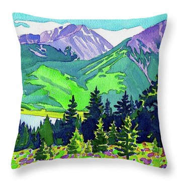 Throw Pillow featuring the painting La Plata Peak by Dan Miller
