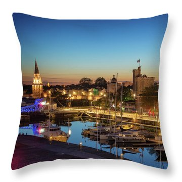 La Rochelle At Night Throw Pillow