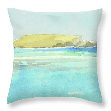 La Tortue, St Barthelemy, 1996_4179, 122x74 Cm, 6,86 Mb Throw Pillow