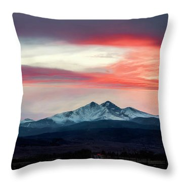 Ladies In The Sky Winter Sunset Throw Pillow