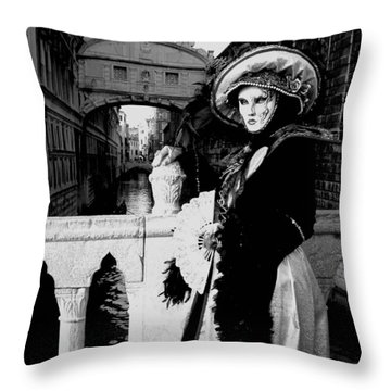 Throw Pillow featuring the photograph Lady And The Sigh by Donna Corless