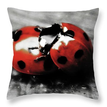 Lady Bug Loving Throw Pillow