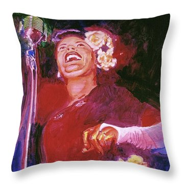 Lady Day - Billie Holliday Throw Pillow