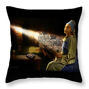 Lady In Waiting Throw Pillow