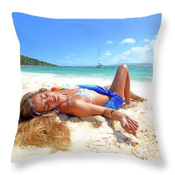 Lady Of The Leewards Throw Pillow