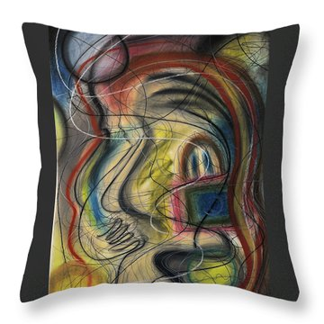 Lady With Purse Throw Pillow
