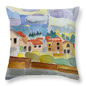 Laguna Del Sol Houses Design  Throw Pillow