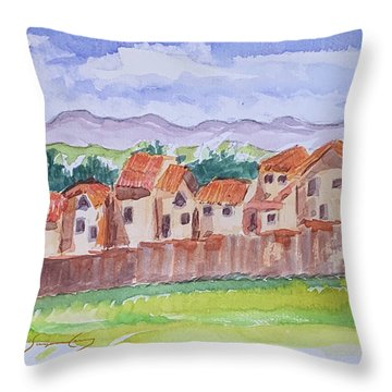 Laguna Del Sol Row Houses Throw Pillow