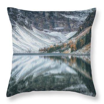 Lake Agnes No 3 Throw Pillow