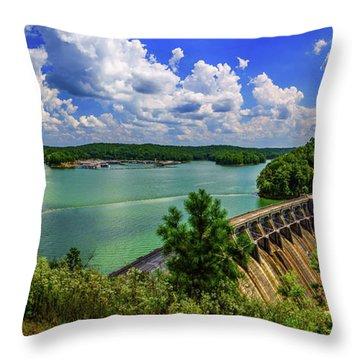 Lake Allatoona Dam Throw Pillow